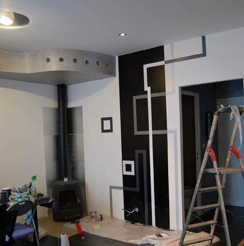 Atelier mur 39 mur - Mur blanc et gris ...