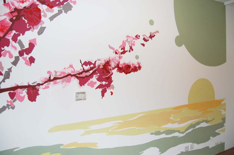 Chambre adulte tendance et zen atelier mur 39 mur for Dessin mural chambre adulte