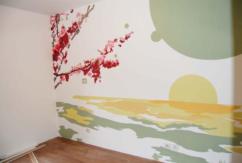 dessin sur mur chambre resine de protection pour peinture. Black Bedroom Furniture Sets. Home Design Ideas