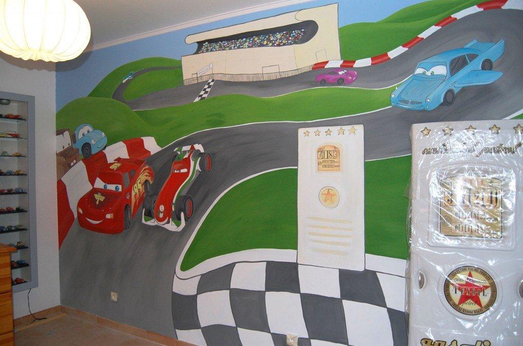 peinture-dessin-mur-cars-course-francesco-chambre-enfant-21-1024x679